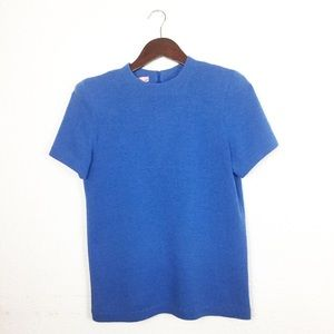 St. John Collection Blue Knit Top
